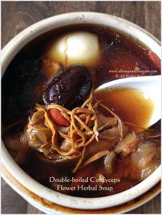 Double-boiled Cordyceps Flower Herbal Soup