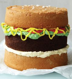 Such a cute idea > How to make a Burger Cake (okay... it's really just a cake made to look like a hamburger).  It's cute, isn't it?