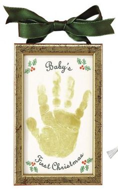 holiday, grandparent gifts, babies first christmas, handprint ornament, christmas decorations, christma idea, hand prints, christmas ornaments, christma handprint