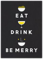 Eat Drink And Be Merry email-able card