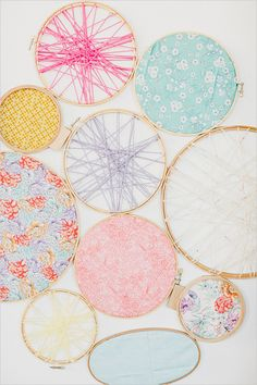 embroidery hoop wall decoration by Jen Rios Design