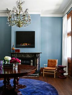 love this blue paint color, and really love all the paint colors in the whole house.