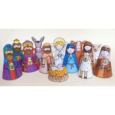 christma children, printables, children craft, nativ printabl, nativity, paper doll