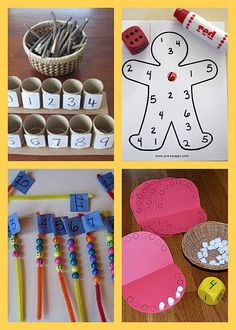 Counting Activities Looking for fun and simple ways to practice counting with your little one? Here are some cute ideas from around the web.