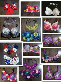 Design your own Rave Bra, Electric Zoo, Festival Bra, Electric Daisy Carnival, EDC, Daisy Bra, Ultra, Tomorrowworld, Halloween Costume on Etsy, $89.00
