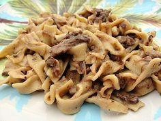 Crockpot Beef Noodles