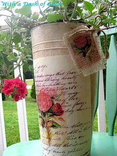 Pretty Roses Planter