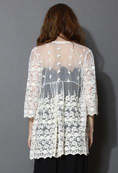 Beautiful lace cardigan.