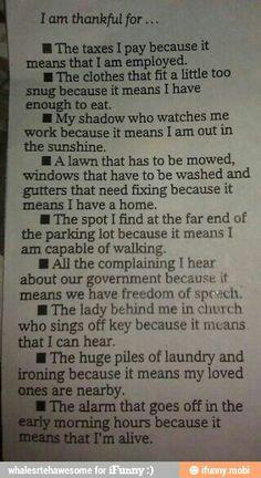 Positive thinking