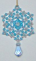 Blue Ice Crystal Ornament/Pendant by Charlotte Holley - Beaded Legends by Chalaedra