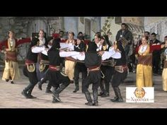 """Kotsari dance from Pontos. Excellent example of Pontian costumes. Κότσαρι-Ν.Κοζάνης (Χοροστάσι, """"Αλέξανδρος"""") - YouTube"""