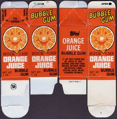 Juice Carton Bubble Gum