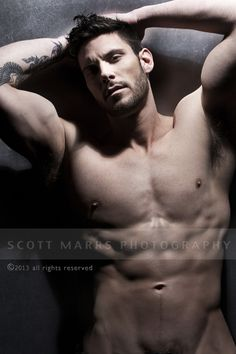 Sean | © Scott Marrs ► scottmarrsphotography.com | #MaleModel #shirtless #pecs #abs #torso #muscular #armpits #physique