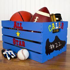 DecoArt® Sports Shoe Crate #organization #DIY #paint