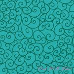 Michael Miller Holiday 2012 Swirly Gig Turquoise [MM-5459-Turquoise] - $7.95 : Pink Chalk Fabrics is your online source for modern quilting cottons and sewing patterns., Cloth, Pattern + Tool for Modern Sewists