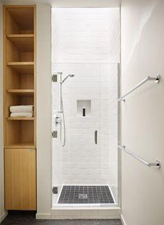 Small bathroom ideas on pinterest small showers tubs for Bathroom design 3x3