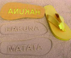 Hakuna Matata Double Layer Flip Flops by Flipside