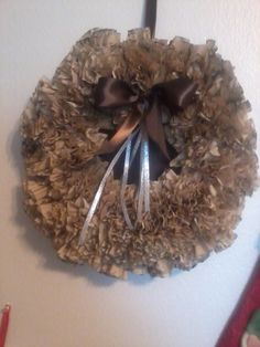 Coffee filter wreath....