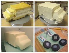 3D truck cake tutorial by Cake Dreams