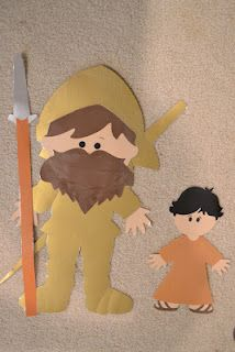 David and Goliath (Goliath has a removable head) (made with Cricut)