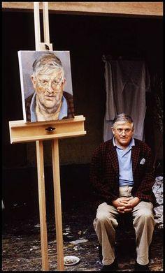 David Hockney by Lucian Freud