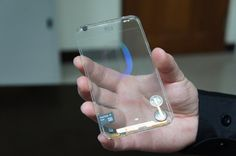 This Transparent mobile display is unbelievable. Imagine the applications!