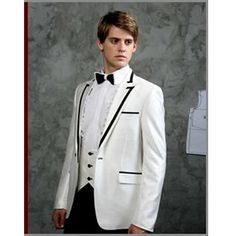 Custom White Fancy Fashion Wedding Prom Tux Tuxedos Dress Suits Men SKU-123175
