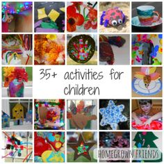 Over 35 fun and educational activities for children! (Homegrown Friends)