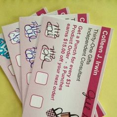 Customer Loyalty Cards - what a great way to keep customers coming back!  #customercare #loyaltycard #directsales