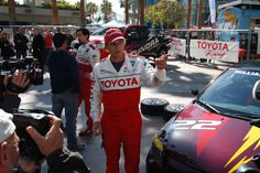 William Fichtner hanging by his Scion tC at the 2012 Toyota Pro/Celebrity Race in Long Beach. #TPCR