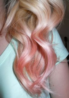 ombr blush, rose gold hair