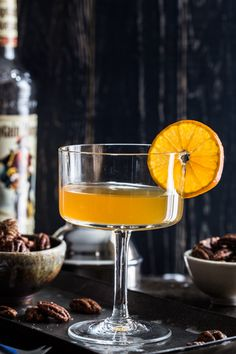 Rum clementine cocktail
