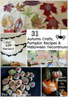 31 Manualidades Recetas de otoño, calabaza y decoraciones de Halloween