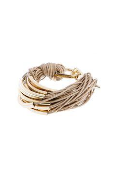 Armani cotton cord cuff bracelet
