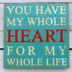 Whole Heart Sign Blue