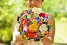 Crocheted Flower Wedding Bouquet - Tutorial  ❥ 4U // hf