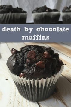 Death by Chocolate Muffins - One Punky Mama