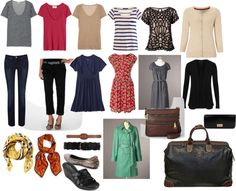 """This is a good visual list of how to pack.  """"Europe Packing List"""" by adbcarroll on Polyvore and I know it is re-creatable  on an average persons budget LOL!"""