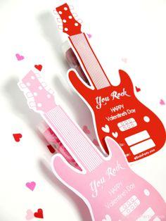 FREE printable you rock Valentine tag ^^ #Valentines #Printables #Kids