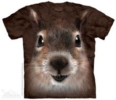 Squirrel Face T-Shirt at theBIGzoo.com, a family-owned toy store. squirrel face, toy store, familyown toy