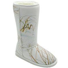 White Mossy Oak® 13 inch Australian Style Boots