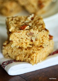 Half Baked: Bourbon Pecan Pie Rice Crispy Treats.