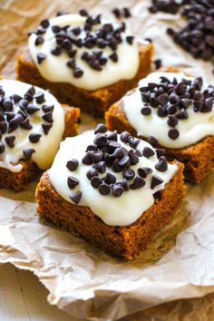 Best-Ever Pumpkin Chocolate Chip Bars. - Layers of Happiness