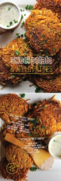 Sweet Potato & Apple Patties via bona food