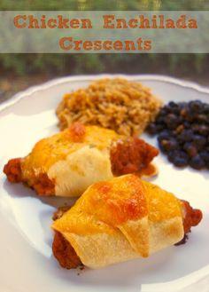 Chicken Enchilada Crescents | Plain Chicken