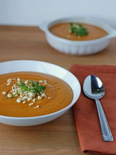 Spicy Peanut and Sweet Potato Soup #glutenfree #antiinflammatory #dairyfree #vegan #vegetarian