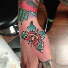 hand tattoo | Tumblr tattoo idea, butterfli, hand tattoos, tim beck, tattoo rule, tattoo artwork