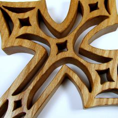 Cross / Diamond Design / Mid Size 7 inch / Ash Wood