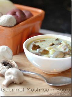 Gourmet Mushroom Soup recipe that is easy and delicious!!