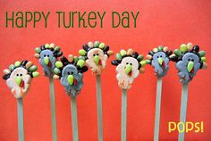 Turkey marshmallow pops
